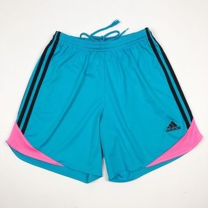 Adidas Women's Blue Pink ClimaCool Athletic Shorts